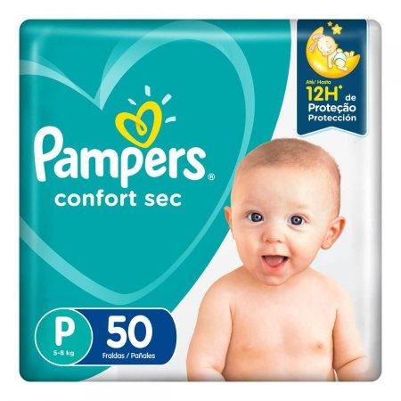 Fralda Pampers Confort Sec P com 50 unidades