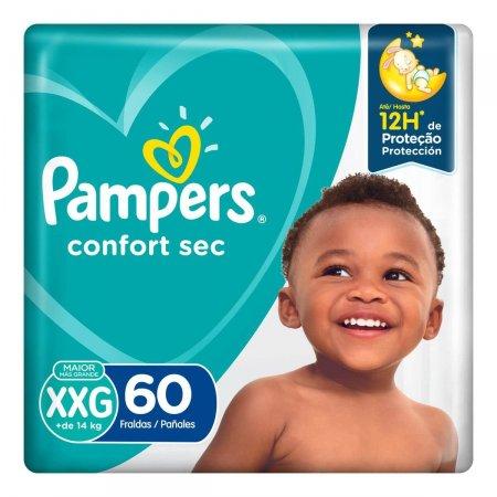 Fralda Pampers Confort Sec XXG com 60 unidades