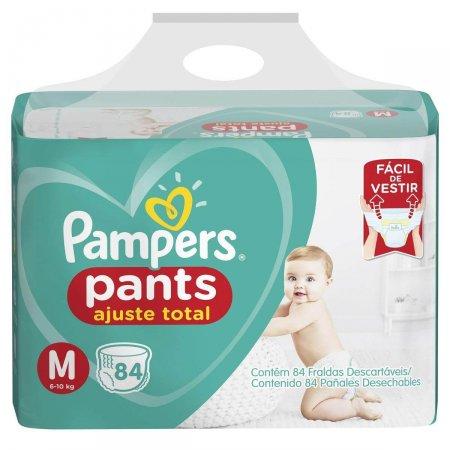 Fralda Pampers Pants Ajuste Total M com 84 unidades