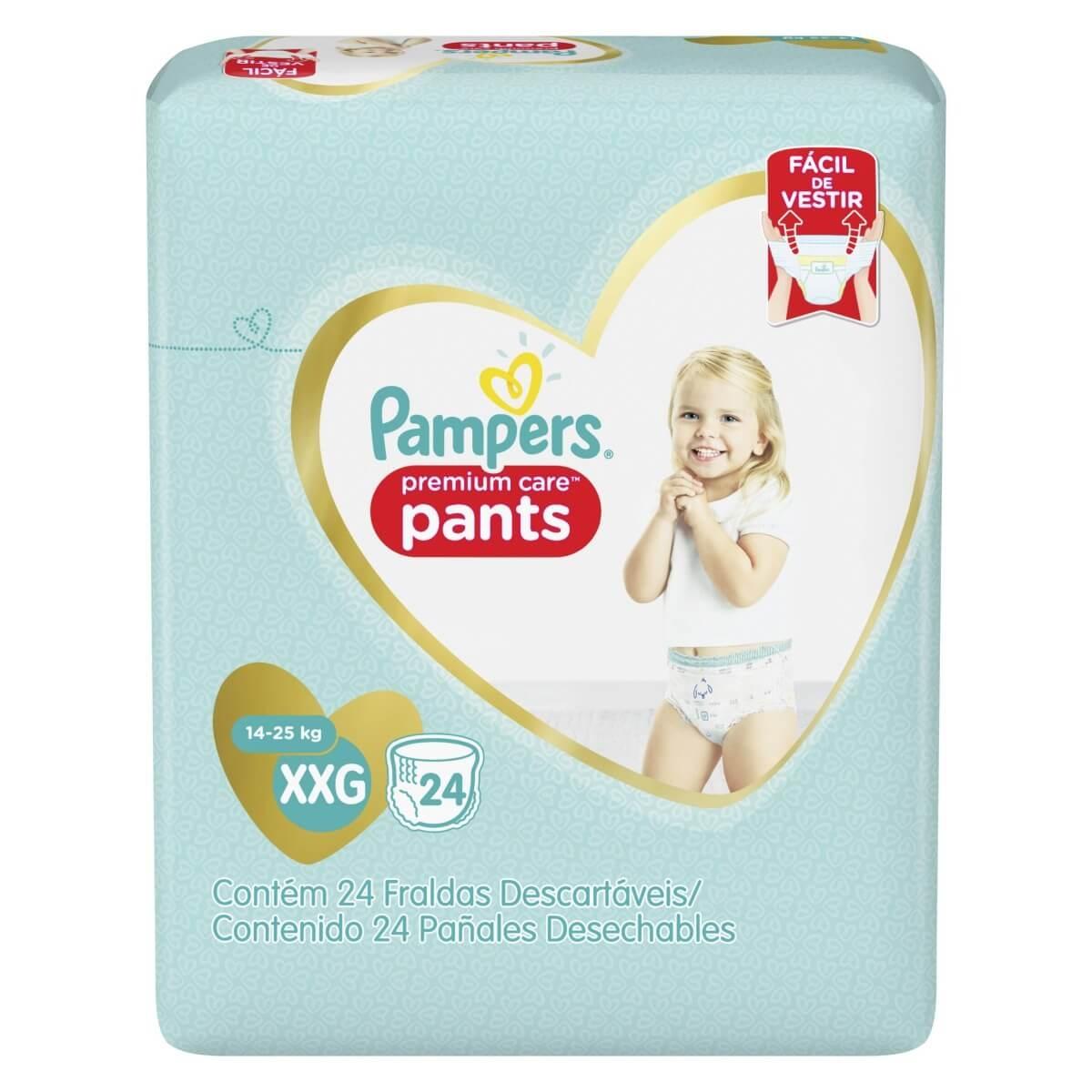 Fralda Pampers Premium Care Pants Tamanho XXG 24 Tiras