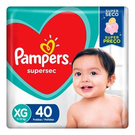 Fralda Pampers Supersec Hiper XG com 40 unidades