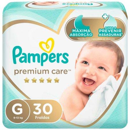 Fraldas Pampers Premium Care Tamanho G com 30 unidades