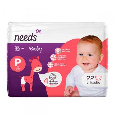 Fraldas Descartáveis Needs Baby Tamanho P