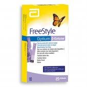 Tiras para Monitoramento Freestyle Optium Cetona com 10 unidades