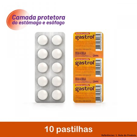 Gastrol com 10 Pastilhas