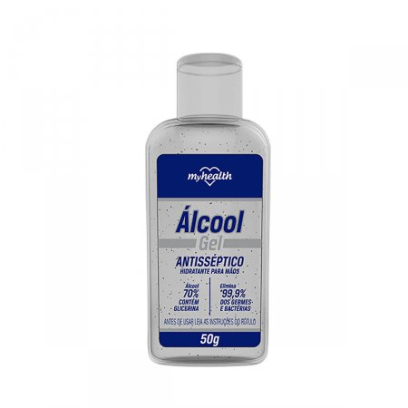 Álcool Gel 70% Antisséptico My Health com Glicerina com 50g
