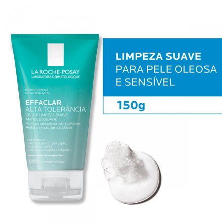 Gel de Limpeza Facial La Roche-Posay Effaclar Alta Tolerância com 150g