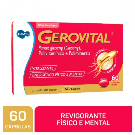Suplemento Vitamínico Gerovital com 60 cápsulas