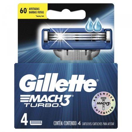 Lâminas para Aparelho de Barbear Gillette Mach3 Turbo