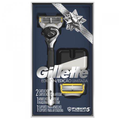 Kit Aparelho de Barbear Gillette Fusion 5 Proshield Edição Limitada
