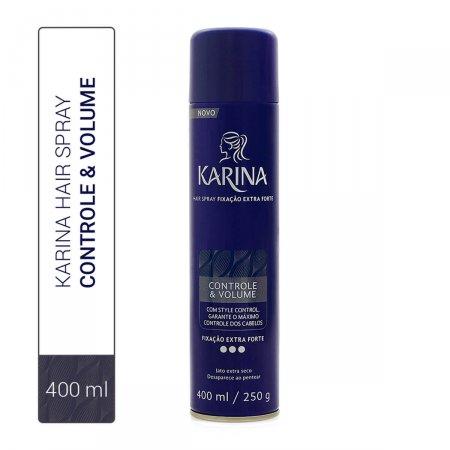 Spray Fixador para Cabelo Karina Controle & Volume Fixação Extra Forte com 400ml