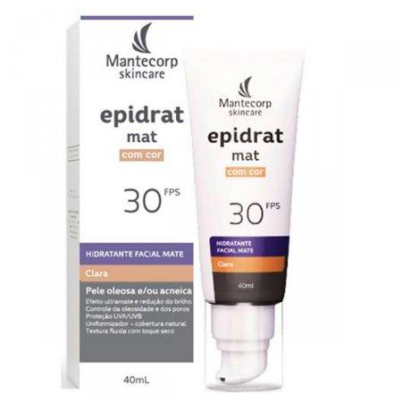 Hidratante Facial Mate Epidrat Mat com Cor Clara FPS30 40ml  