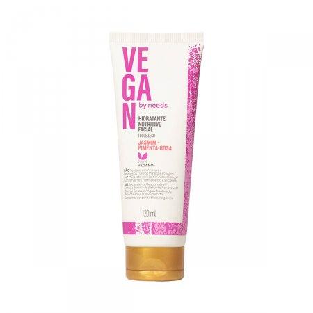 Hidratante Facial Toque Seco Vegan By Needs Jasmin e Pimenta Rosa com 120ml