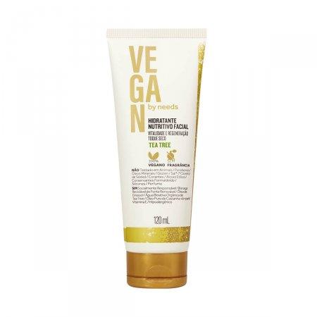 Hidratante Nutritivo Facial Vegan By Needs Tea Tree Toque Seco Sem Fragrância com 120ml