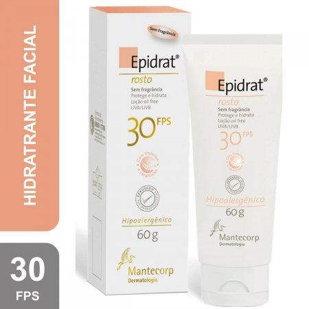 Hidratante Facial Mate Epidrat Mat Mantecorp com Cor Clara FPS 30 com 40ml