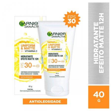 Hidratante Facial Garnier SkinActive Uniform & Matte Vitamina C FPS 30 com 40g
