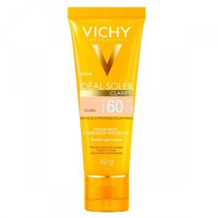 Protetor Solar Facial Idéal Soleil Clarify Cor Clara FPS60