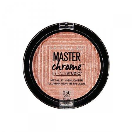 Iluminador em Pó Maybelline Face Studio Master Chrome Molten Rose Gold 6,7g |