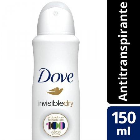 Desodorante Antitranspirante Aerosol Dove Invisible Dry com 150ml