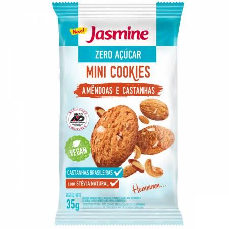 Mini Cookies Jasmine Zero Açucar Amêndoas e Castanhas