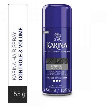 Hair Spray Karina Controle & Volume Fixação Extra Forte