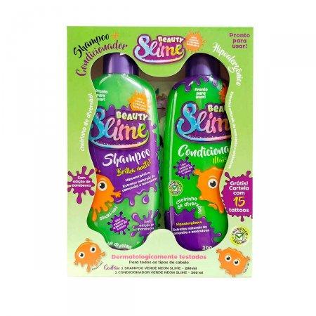 Kit Beauty Slime Verde Neon Shampoo + Condicionador 200ml cada