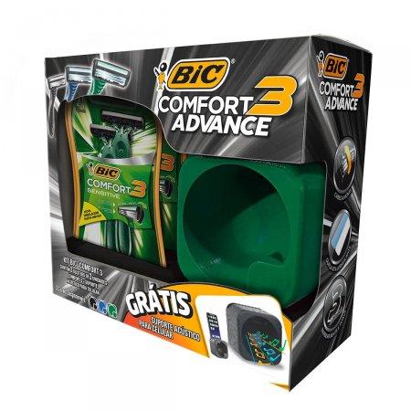 Kit Bic Comfort 3 Advance Grátis Suporte Acústico para Celular |