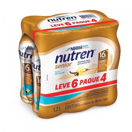 Kit Complemento Alimentar Nutren Senior Baunilha com 6 Unidades | Foto 1
