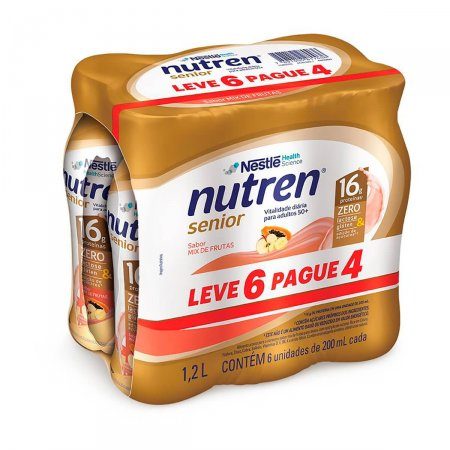Kit Complemento Alimentar Nutren Senior Mix de Frutas com 6 Unidades   Foto 1