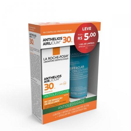 Kit La Roche-Posay Protetor Solar Anthelios Airlicium FPS 30 com 50g + Gel de Limpeza Effaclar Concentrado com 60g