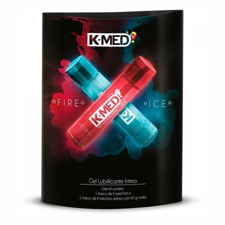 Kit Gel Lubrificante Íntimo K-Med Fire and Ice com 40g Cada