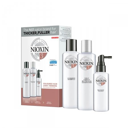Kit Nioxin Sistema 3 Shampoo + Condicionador + Leave-In