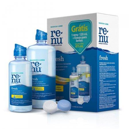 Kit Renu Fresh para Lentes Solução com 355ml + Solução com 120ml + Estojo para Lentes
