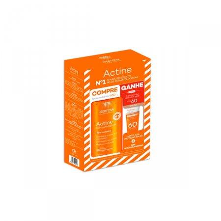 Kit Sabonete Líquido Actine Pele Acneica 400ml + Protetor Solar Actine Color FPS60 20g