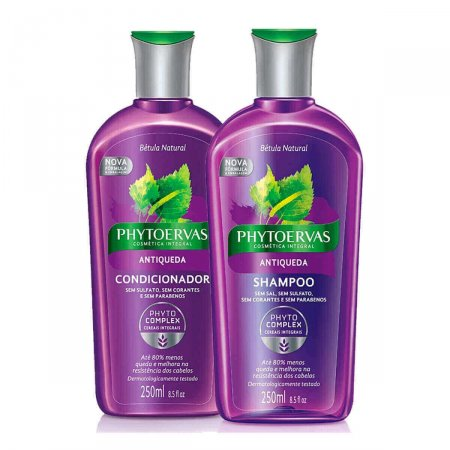 Kit Phytoervas Antiqueda com 1 Shampoo + 1 Condicionador com 250ml cada