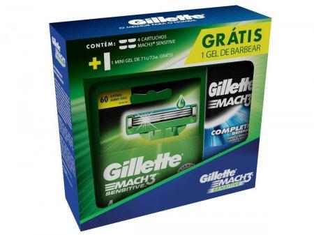 Kit Carga Gillette Mach3 Sensitive