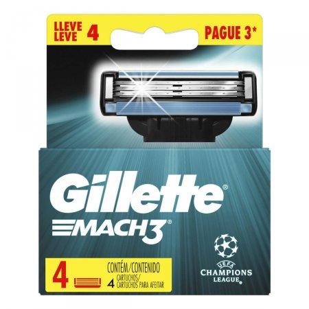 Kit Carga para Aparelho de Barbear Gillette Mach 3 Liga Dos Campeões
