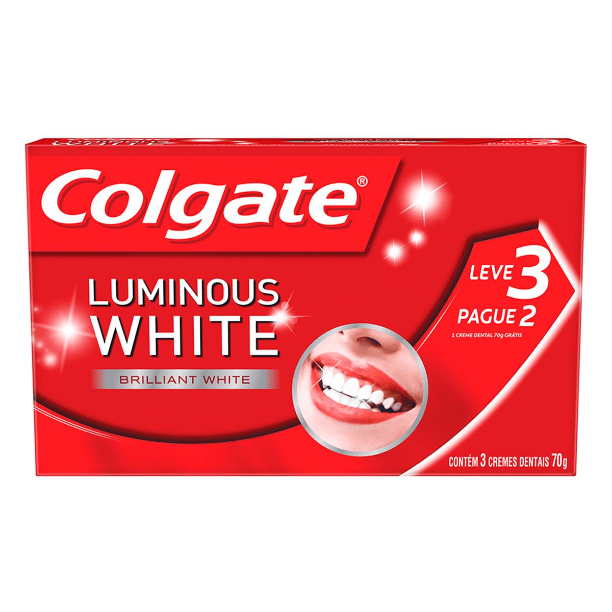 Kit Colgate Creme Dental Luminous White Brilliant White 1 Unidade