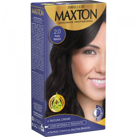 Kit Coloração Maxton Preto Natural 2.0