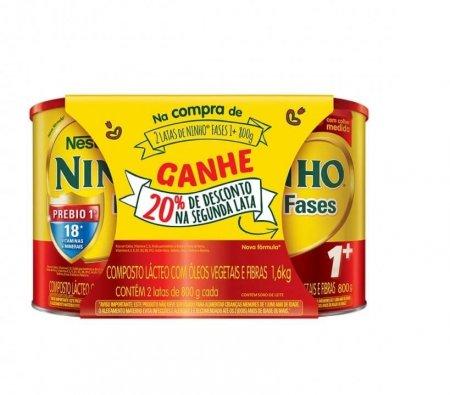 Kit Composto Lácteo Ninho Fases 1+