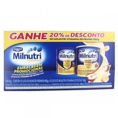 Kit Milnutri Composto Lácteo Premium + Vitamina de Frutas