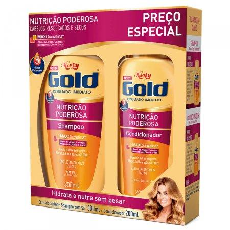 Kit Shampoo + Condicionador Niely Gold Nutrição Poderosa