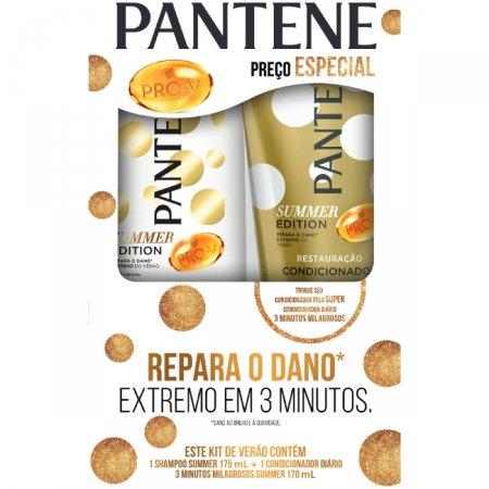 Kit Shampoo + Condicionador Pantene Summer 3 Minutos Milagrosos