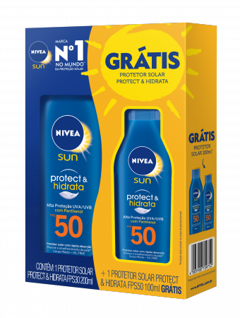 Kit Protetor Solar Corporal Nivea Sun Protect & Hidrata FPS50