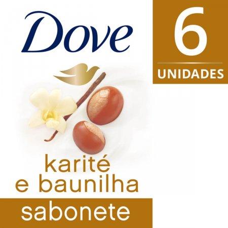Kit Sabonete em Barra Dove Karité e Baunilha com 6 Unidades