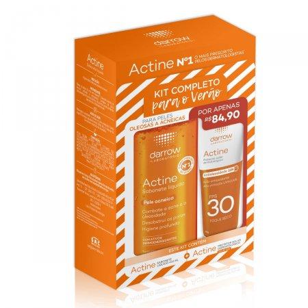 Kit Actine com 1 Sabonete Líquido para Pele Acneica de 400ml + 1 Protetor Solar Facial FPS 30 de 40g