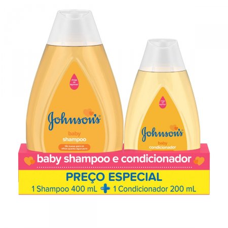 Kit Johnson's Baby com 1 Shampoo de 400ml + 1 Condicionador de 200ml