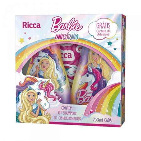 Kit Shampoo e Condicionador Ricca Barbie Unicórnio