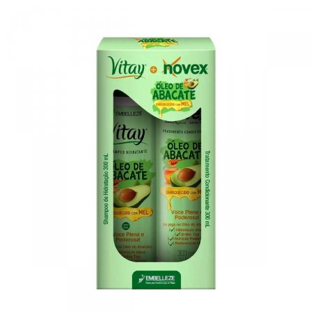 Kit Shampoo e Tratamento Condicionante Vitay Novex Óleo de Abacate