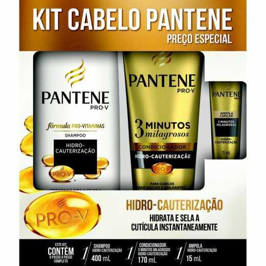543c47ed2 Kit Shampoo + Condicionador Pantene Hidro Cauterização - Grátis Ampola